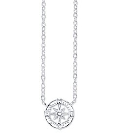 LArocks® Sterling Silver Mini Compass Necklace