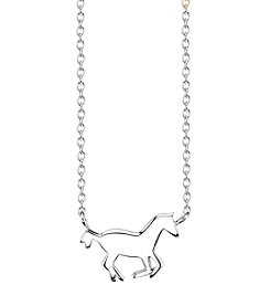 LArocks® Sterling Silver Mini Horse Necklace