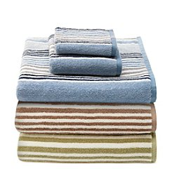 LivingQuarters Perfect Performance Multi Stripe Towel Collection