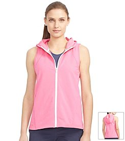 Lauren Active Stretch-Cotton Hooded Vest