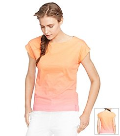 Lauren Active® Ombre Cotton Tee