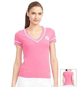 Lauren Active® Short-Sleeved Sweater