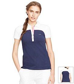 Lauren Active® Sleeveless Color-Blocked Polo Shirt