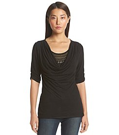 AGB® Cowl Neck Top