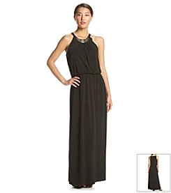 NY Collection Black Maxi Dress