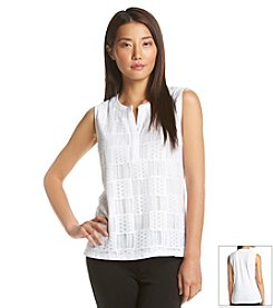 Jones New York Signature® Patchwork Lace Tank