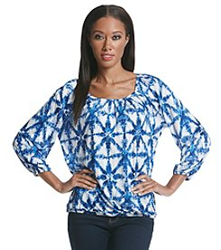 MICHAEL Michael Kors® Glazed Tile Peasant Top