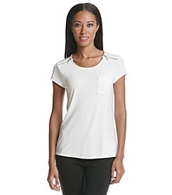 Nine West® Zip Shoulder Top