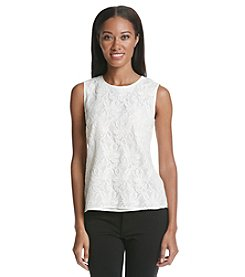Kasper® Lacy Sleeveless Blouse