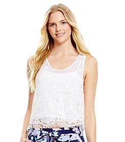 Jessica Simpson Crochet Tank
