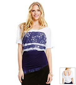 Jessica Simpson Distressed Flag Tee