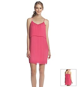 BCBGeneration™ Pleated Popover Dress