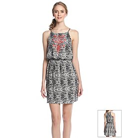 Trixxi® Printed Embroiderd Dress