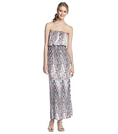 Trixxi® Printed Tube Maxi Dress
