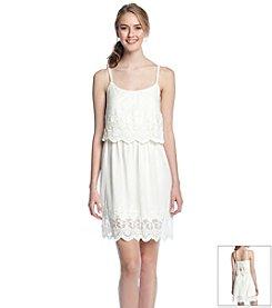 Trixxi® Mesh Embroidered Dress