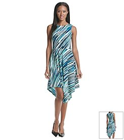Andrew Marc® Printed Fit And Flare Dress