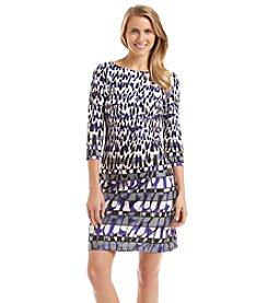 Nine West® Printed Scuba Dress
