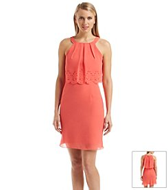 Jessica Simpson Laser-cut Popover Dress