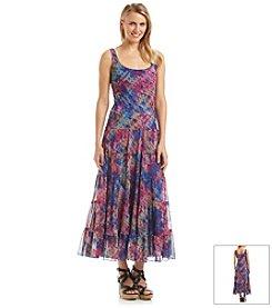 Kasper® Printed Tiered Maxi Dress