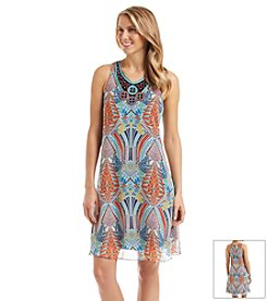 Madison Leigh® Geo Print Trapeze Dress