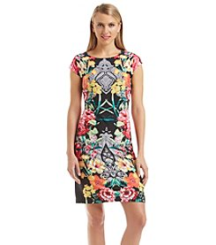Madison Leigh® Floral Print Jersey Dress