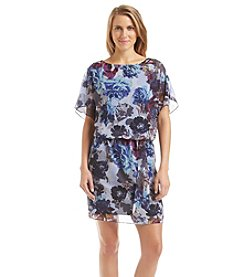 S.L. Fashions Floral Blouson Dress