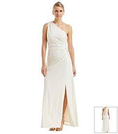 Nine West® Embellished One Shoulder Gown