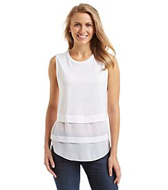 MICHAEL Michael Kors® Woven Mix Top