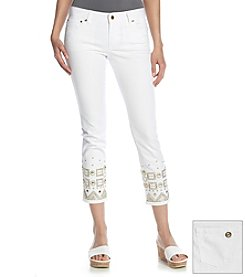MICHAEL Michael Kors® Beaded Skinny Cropped Jeans