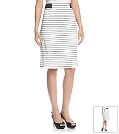 Nine West® Stripe Ponte Skirt