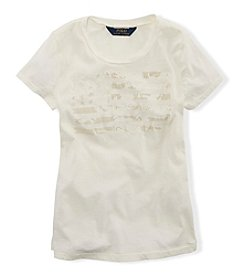 Ralph Lauren Childrenswear Girls' 2T-16 Graphic Tee