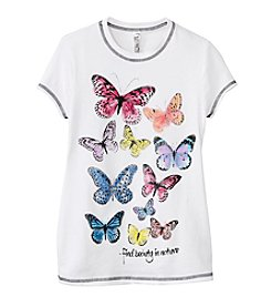 Beautees Girls' 7-16 Butterfly Screen Tee