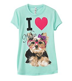 Beautees Girls' 7-16 I Love New Yorkie Screen Tee