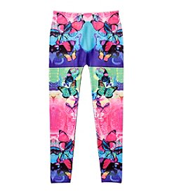 Squeeze® Girls' Butterfly Print Leggings
