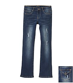 Vigoss® Girls' 7-16 Flap Pocket Bootcut Jeans
