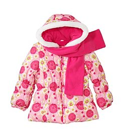 London Fog® Girls' 2T-6X Floral Bubble Jacket
