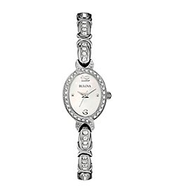 Bulova® Women's Stainless Steel Watch With Swarovski Crystals