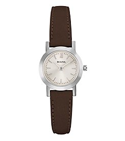 Bulova® Women's Leather Watch