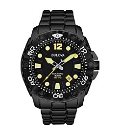 Bulova® Men's Black Sport Watch