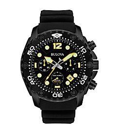 Bulova® Men's Black Chronograph Watch