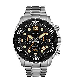 Bulova® Men's Black Dial Chronograph Watch