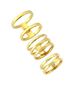Vince Camuto™ Goldtone Open Bar Ring Set