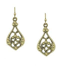 1928® Signature Goldtone Tailored Drop Earrings