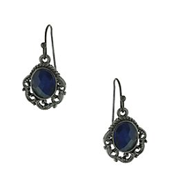 1928® Signature Jet Black Dark Blue Drop Earrings