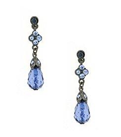 1928® Signature Jet Black Blue Drop Earrings