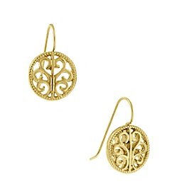 1928® Signature Goldtone Round Drop Earrings