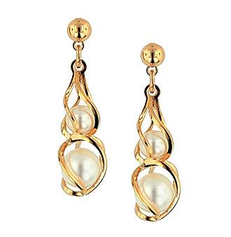 1928® Jewelry Goldtone Simulated Pearl Drop Earrings
