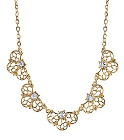 1928® Signature Goldtone Crystal Collar Necklace