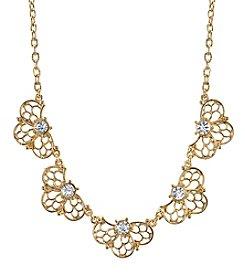 1928® Signature Goldtone Crystal Collar Necklace