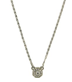 1928® Signature Silvertone Crystal Necklace